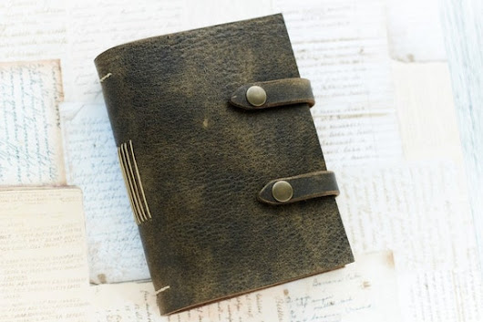 Aged Leather Journal Pocket Leather Notebook Travel от Sunbrilo