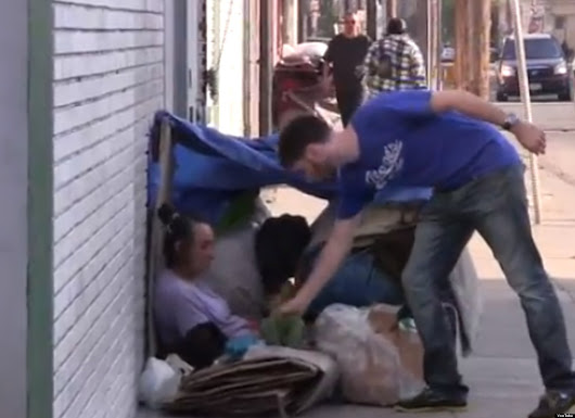 Guy Gives Abercrombie & Fitch A Brand Readjustment By Giving Their Clothes To The Homeless (VIDEO)