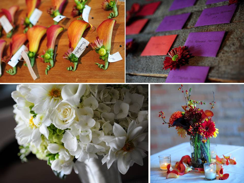 Colors for a fall wedding that are NOT red orange brown green