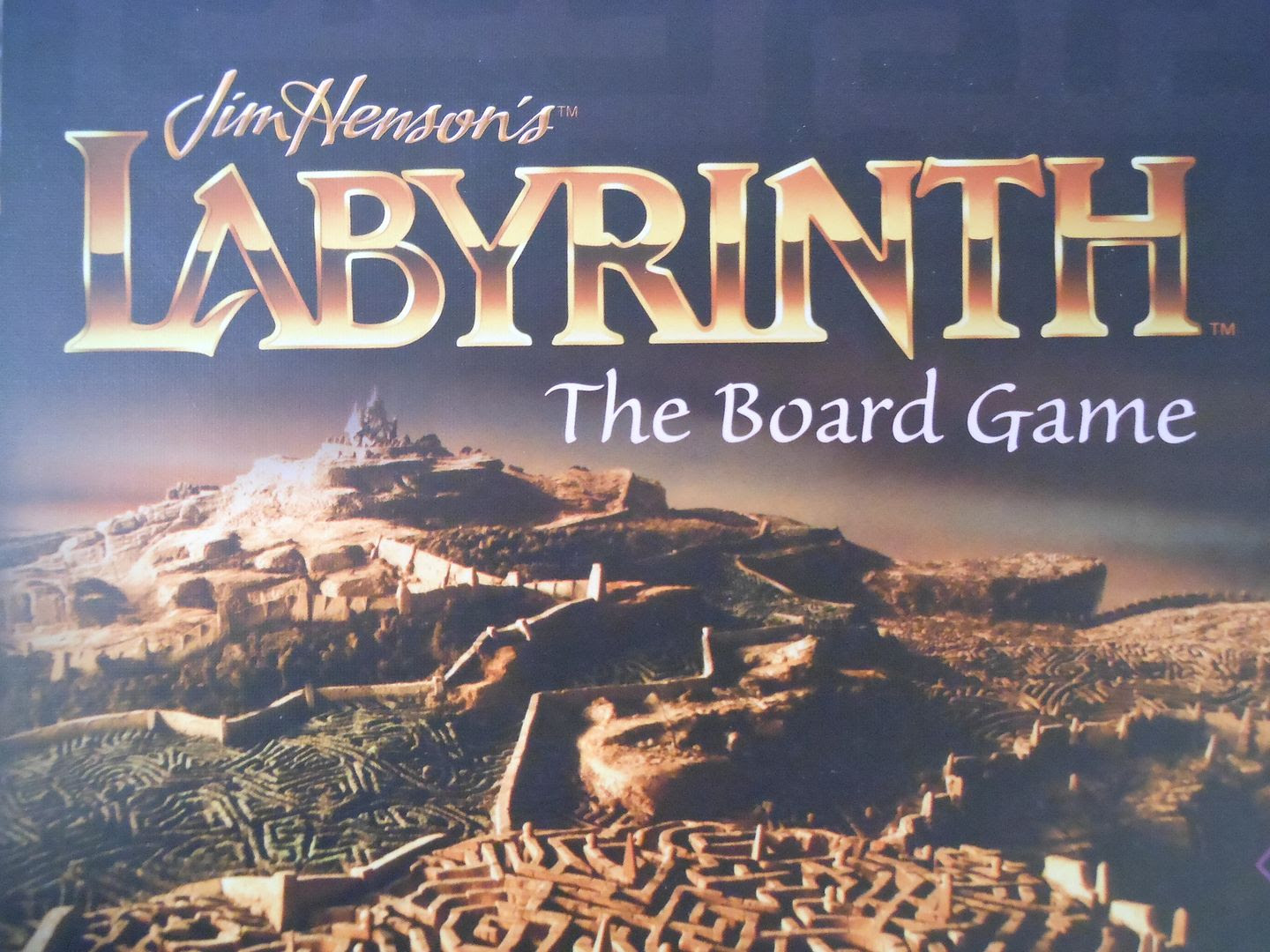 The box art for Jim Henson's Labyrinth: The Board Game, showing the titular maze.