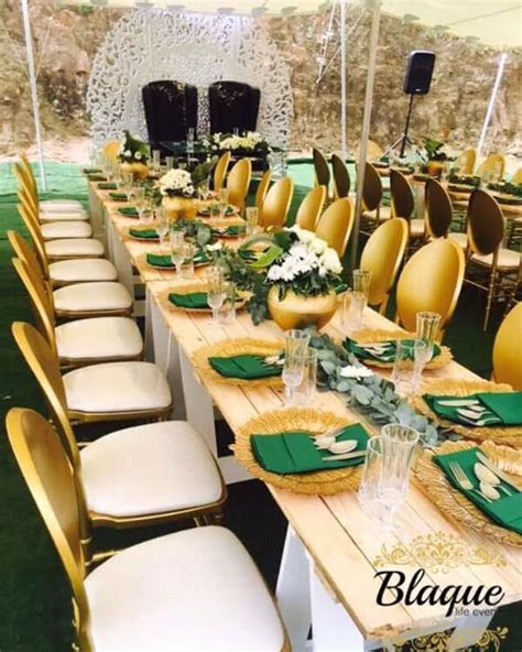 Green and Gold themed Umembeso Decoration   Clipkulture