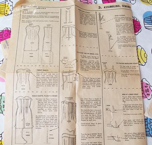 marchewkowa, blog, szafiarka, szycie, krawiectwo, retro, vintage wykrój, McCall's 4666, len, Piegatex, sukienka, 50s