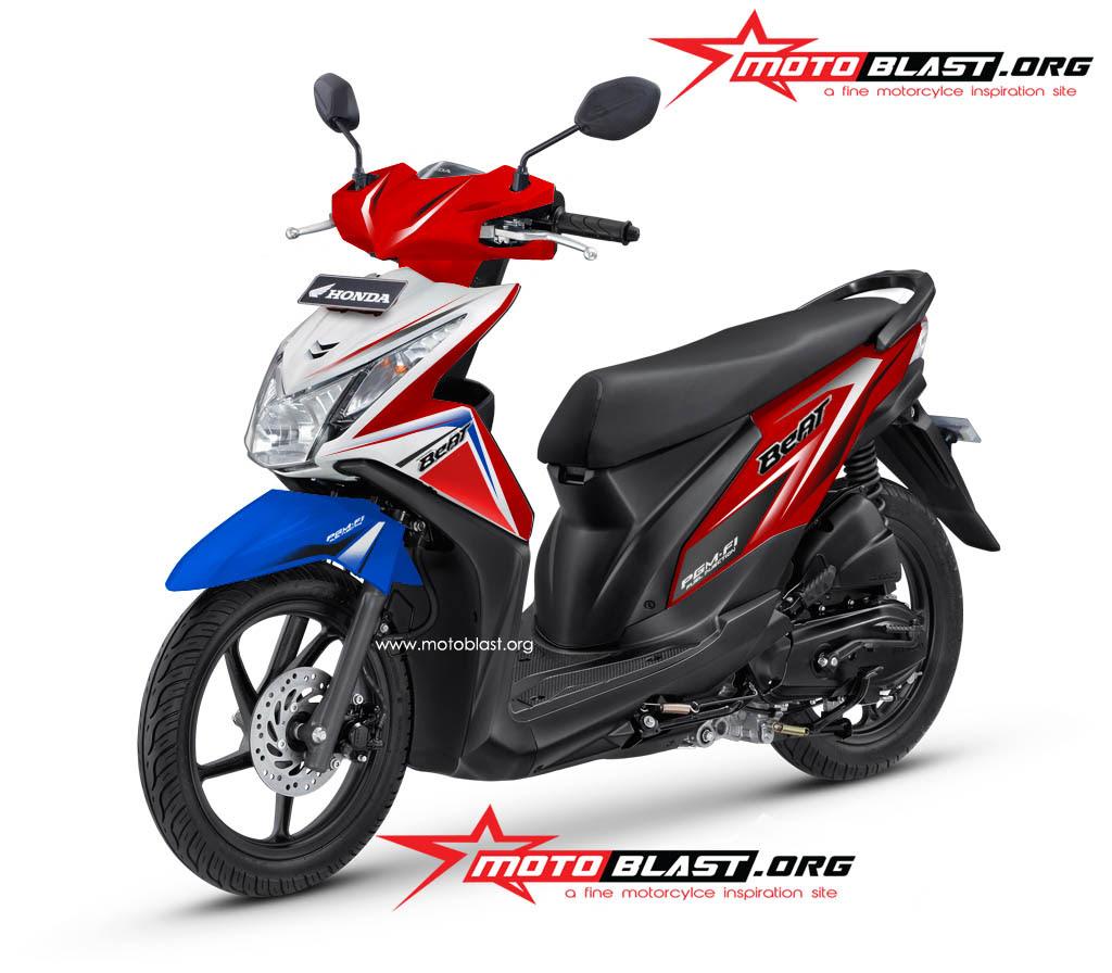 Modif Striping Honda Beat FI 2014 Terbaru Ala Motoblast MOTOBLAST