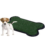 """Pet Potty Patch - Dog Training Bathroom Pad Indoor or Outdoor - Bone Shaped - 17""""x27""""x2"""""""