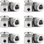 12x MK8 Steel Drive Gear Filament Pulley For 1.75/3.0mm Extruder 3D Printer, 12PCS