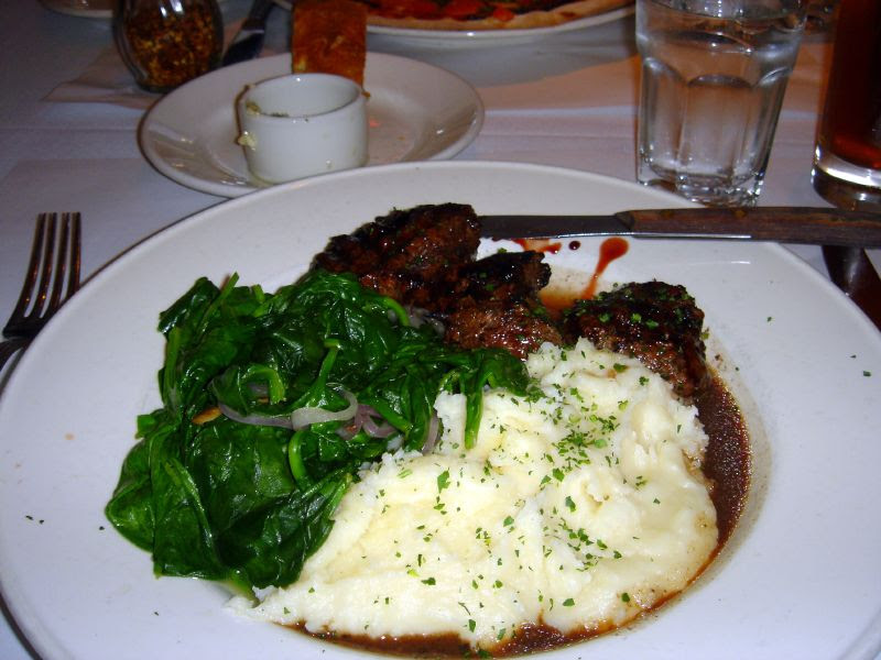 Flat Iron Beef with Pomagranate Sauce