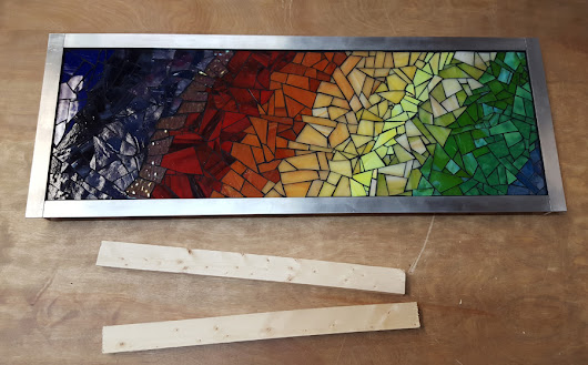 How to Hang Mosaic Art with French Cleat Wall Mounts