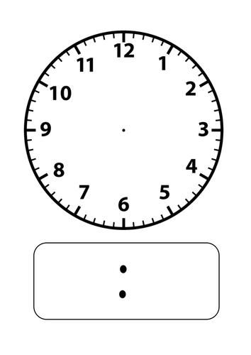 Blank Digital Clock Faces - Scalien