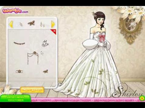Shirley Wedding Dress up Game Review   YouTube