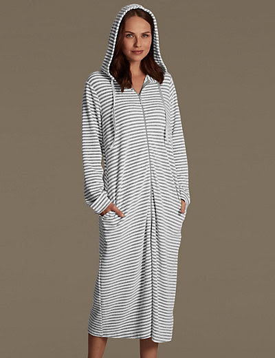 Long Zip Up Dressing Gowns | Insured Fashion