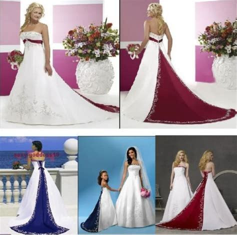 New Wedding Dresses White Ivory Blue Green Purple Red