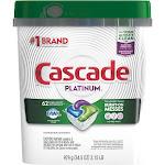 Cascade Platinum ActionPacs Dishwasher Detergent, Fresh Scent - 62 count