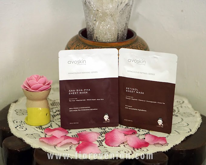 Avoskin Sheet Mask - Retinol dan AHABHAPHA [REVIEW]