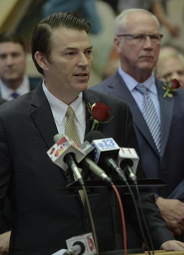 House Speaker Todd Richardson (photo; Tim Bommel, Missouri House Communications)