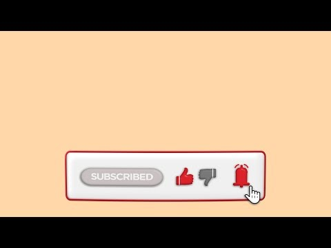Folding Subscribe Button Animation With Like Dislike Notification Bell and Mouse Cursor Click