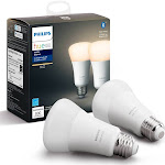 Philips 2pk Hue A19 60W LED With Wireless Starter White