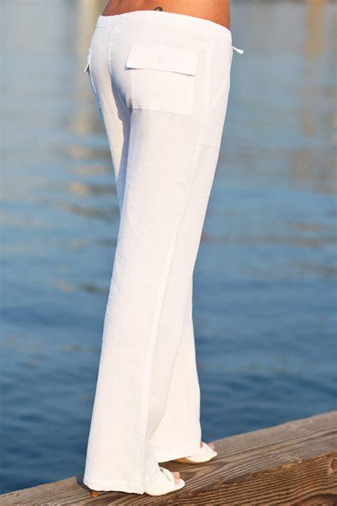 womens white linen pants suit pant olo