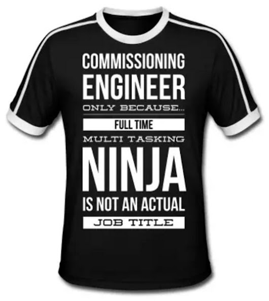 Commissioning Engineer T-Shirt - Win a FREE one now!