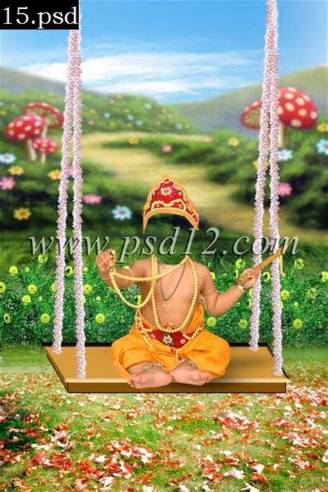 Photoshop Backgrounds: Krishna Theme for Children