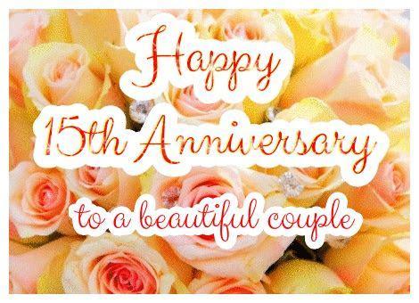 15th Wedding Anniversary eCards Rose   Greetingshare.com