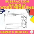 Subtractio within 10 Daily Word Problems First Grade