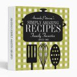 Modern Vintage Personalized Recipes Binder