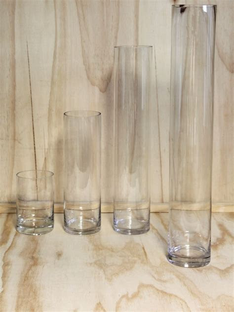 Glass Cylinder Vase  Extra Tall   Wedding Hire   Envy Events