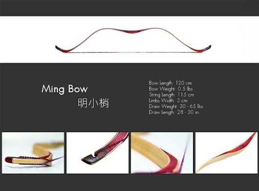 2BULBS Archery Bamboo Wood Laminated Ming Bow Chinese by 2BULBS