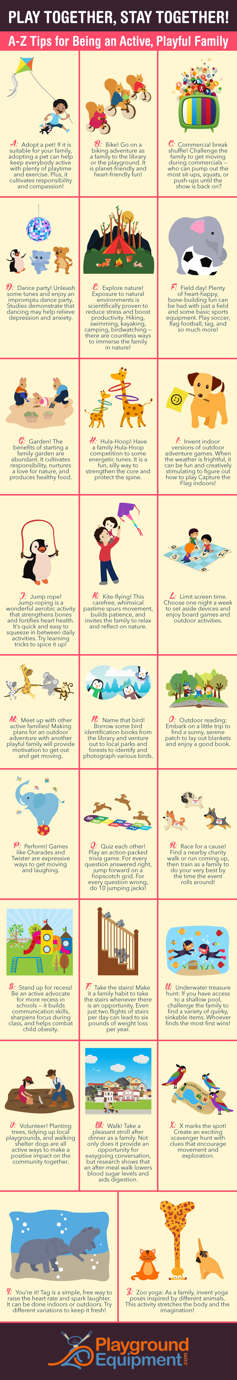 Play Together, Stay Together: an A to Z list of ideas for staying active and healthy as a family