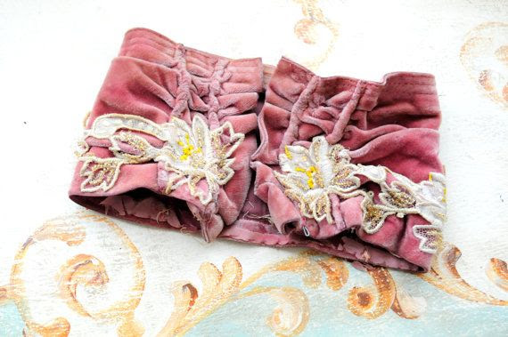 NEW LISTING... Antique french velvet cuff trim by DustyDaisy