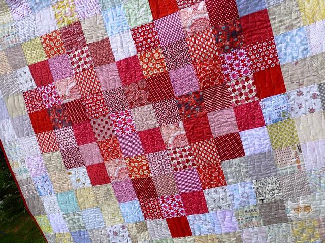 Pixelated Heart Quilt 003