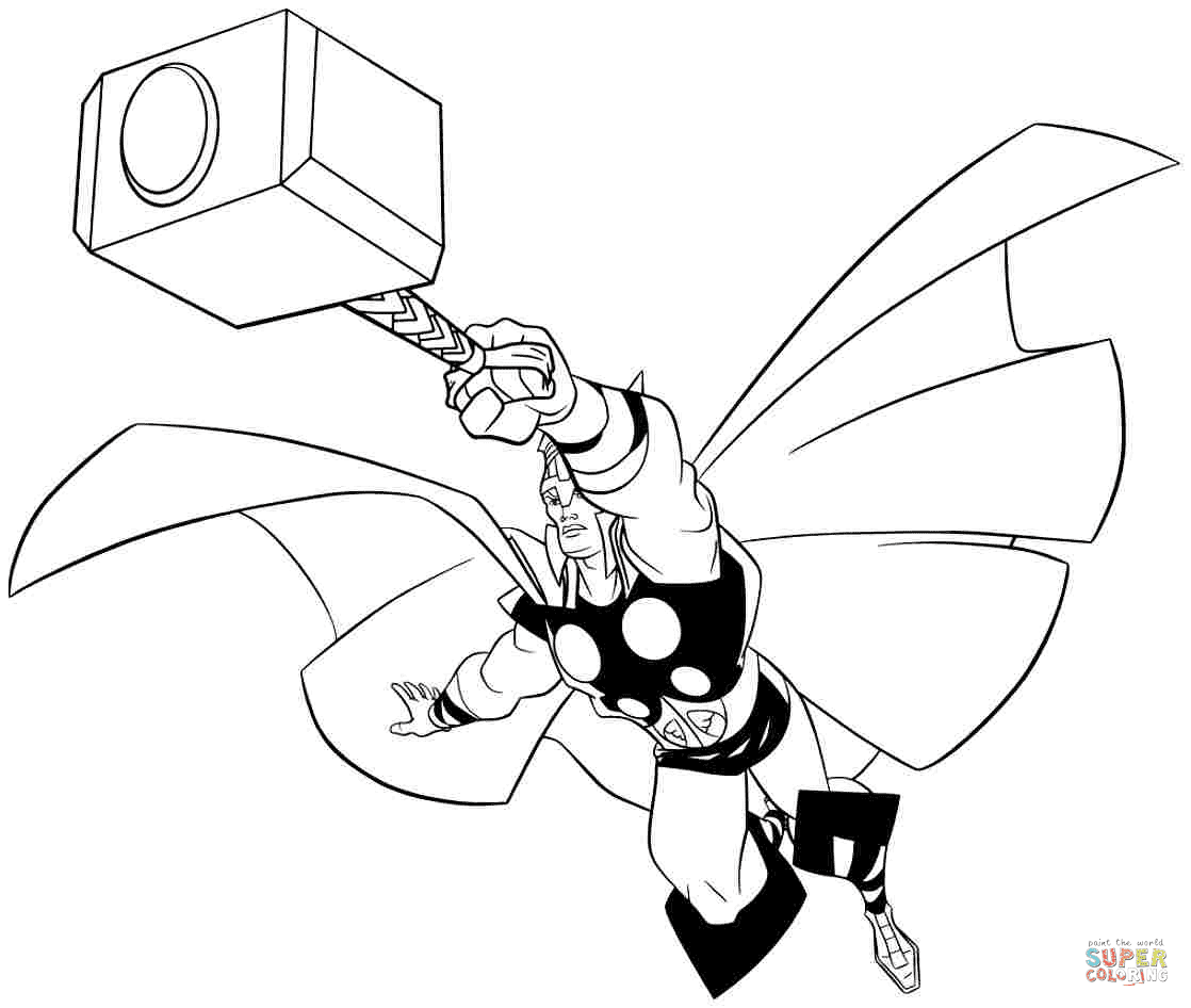 82 Top Thor Cartoon Coloring Pages  Images