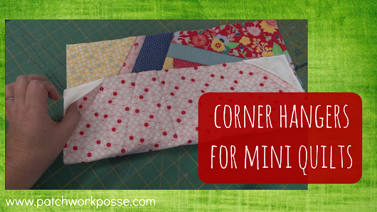 Corner hangers for mini quilts