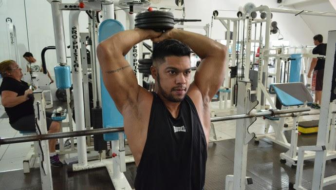 Tadeu Júnior, fisiculturista de RO (Foto: Matheus Henrique)