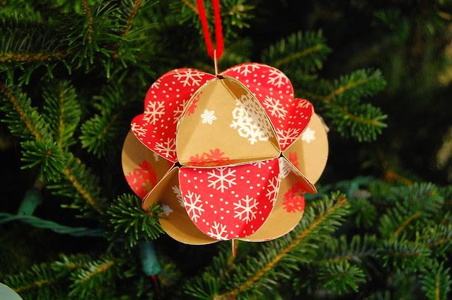 paper ball ornament