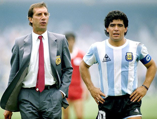 Bilardo e Maradona Argentina Copa 86 (Foto: Getty Images)