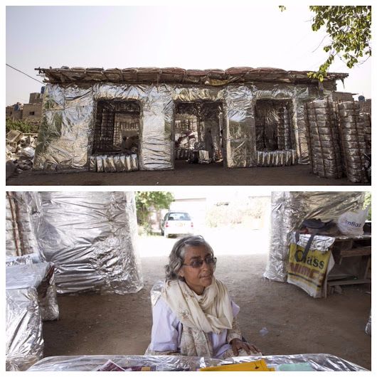 """Trash Houses"" – Woman in Pakistan Builds Houses Using the City's Garbage"