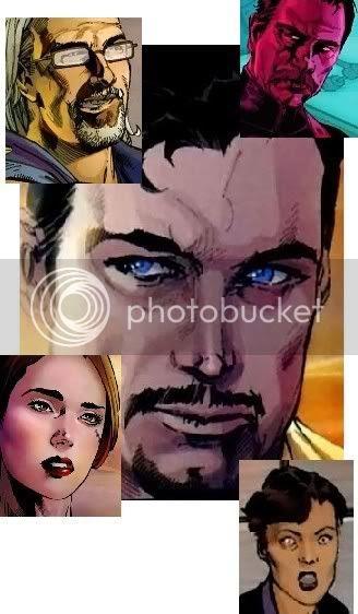 Com Stark ao centro, em sentido horário: Dugan, Hill, Maya e Sal.