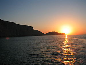 Sunset at Astola Island