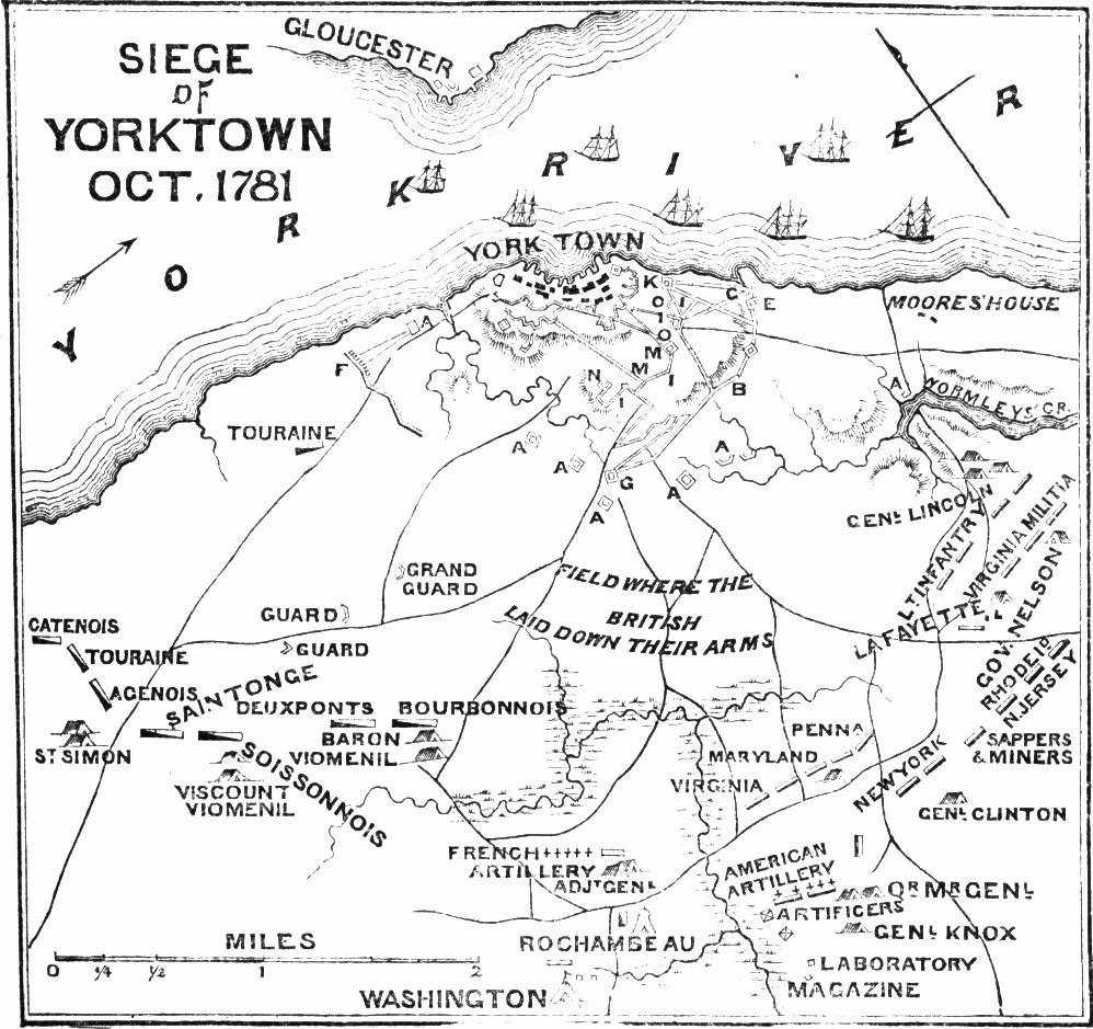 S. G. Goodrich: Plan of the Battle of Yorktown