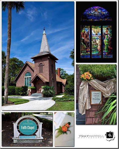 Faith Chapel wedding on Jekyll Island. Photo by Tony and