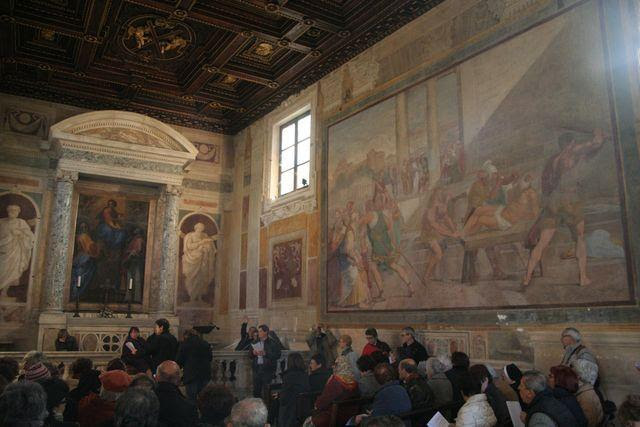 S. Gregorio al Celio, oratorium di S. Andrea: lezione del corso di storia della chiesa sulla figura di S. Gregorio Magno