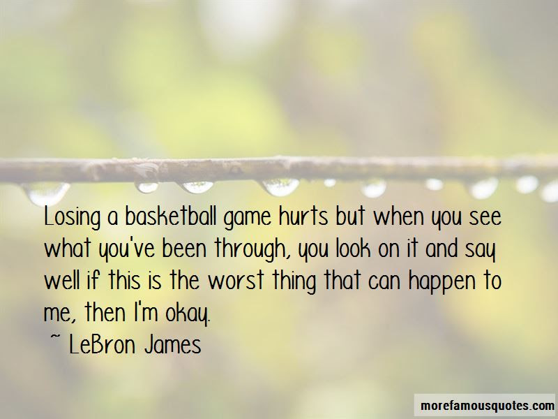 Losing Game Basketball Quotes Top 1 Quotes About Losing Game