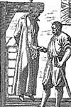 A Jesuit, disemboweled in   Scotland, 1615. Tanner, Societas Jesu Usque ad Sanguinis (Prague, 1675)
