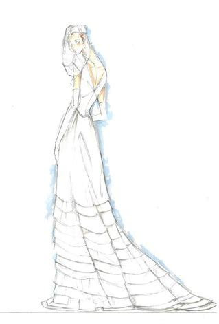 Pink Lemonade : Designers sketch for Kate Middleton's