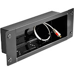 Peerless IBA3 Cable distribution box - Gloss black Cold-rolled steel, fused epoxy