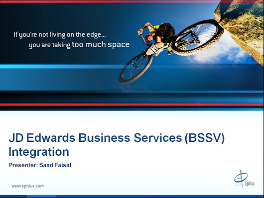 JD Edwards Business Services Integration (Part 1-5)