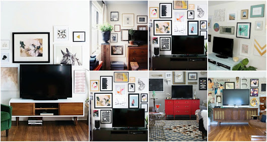 Spectacular TV Gallery Wall Ideas To Create A Focal Point