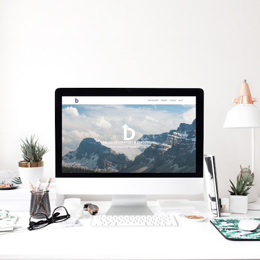 Case Study - Branding & Web Design for DeLozier Strategy & Execution - Michaela Hoffman