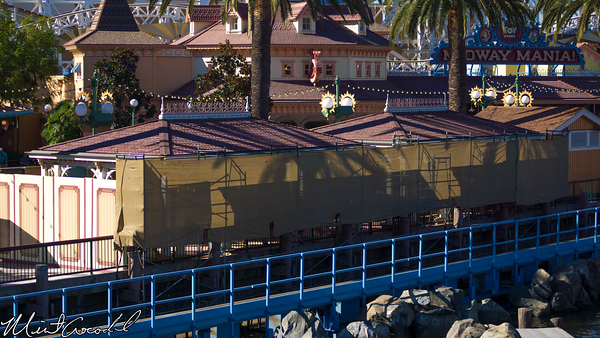 Disneyland Resort, Disney California Adventure, Paradise Pier, Toy Story Midway Mania, Queue, Structure, Refurbishment, Refurbish, Refurb